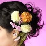 振袖の髪飾り作り方 生花の髪飾り手作り 着物~和服や袴姿・浴衣に