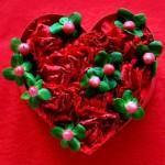 高齢者 バレンタイン飾り 手作り-施設で簡単に作れるバレンタイン飾り