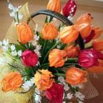 折り紙 チューリップ 立体の折り方 花束を立体的な作り方で豪華に