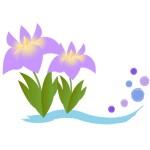 折り紙 菖蒲(あやめ・しょうぶ)折り方-簡単な平面の花の作り方