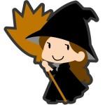 ハロウィン 折り紙 魔女&ほうき 折り方 ほうきに乗った魔法使い