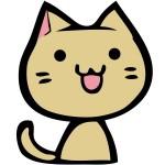 折り紙 猫 簡単 折り方-平面仕上げ ネコの体と顔のセット作り方