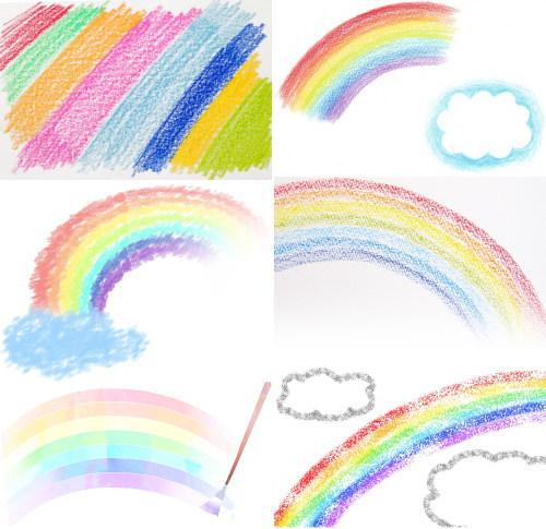 場合によって(手持ちのクレヨンや色鉛筆、絵具などの状況により)、虹のイラストも3色や5色、7色といったように制限などがかかるかもしれません。
